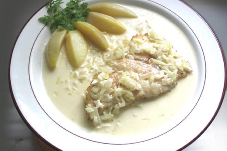 Flanc de turbot, beurre blanc au Riesling