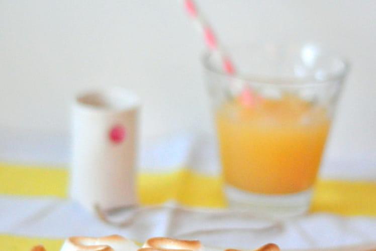 Tarte meringuée passion - mangue