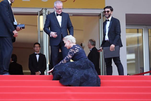 Helen Mirren a raté la marche