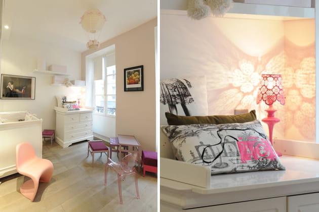 Chambre bébé rose