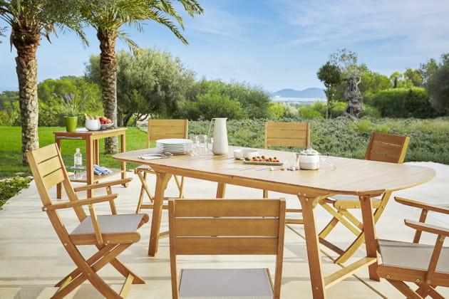 Salon de jardin Hyba chez Carrefour