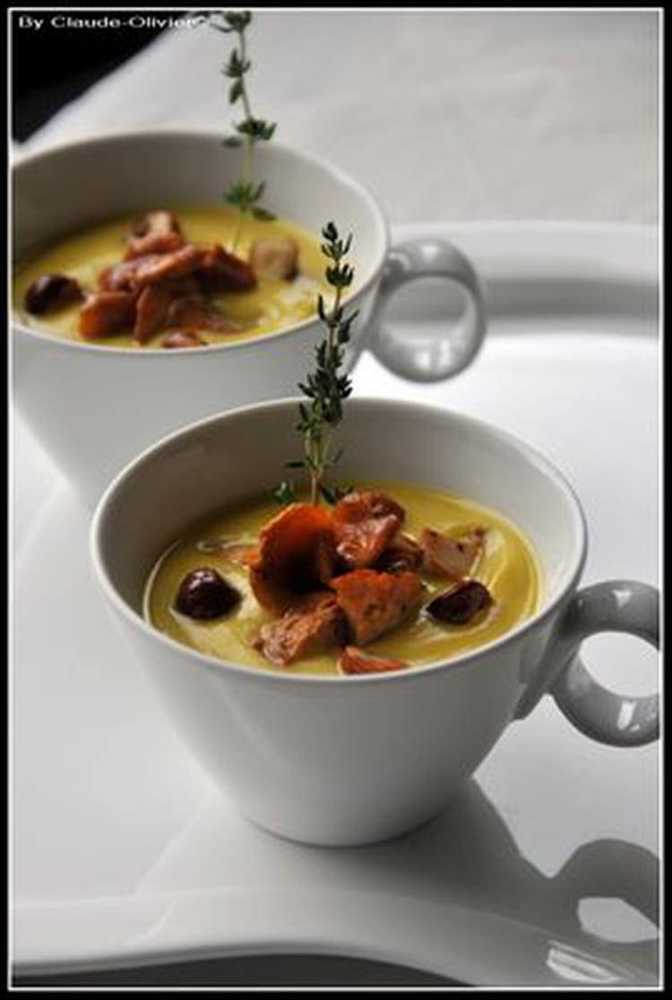 Recette de velout de butternut aux chanterelles la - Cuisiner la chanterelle ...