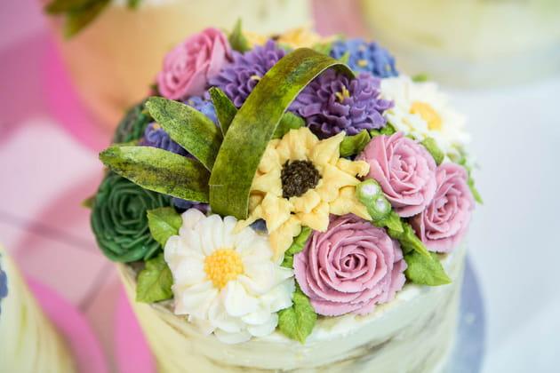 Des fleurs en crème de beurre