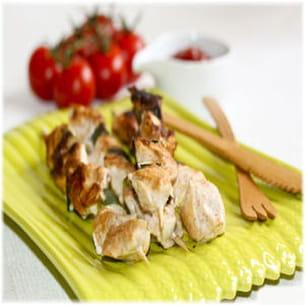 brochettes de poulet à la mode tandoori