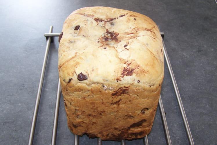Brioche sans oeuf aux pépites de chocolat à la machine à pain