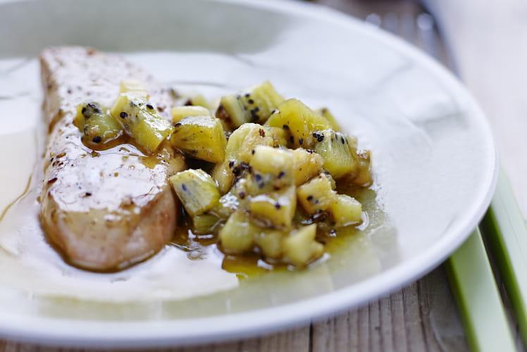 Kiwi de l'Adour IGP chaud et Foie gras des Landes poêlé
