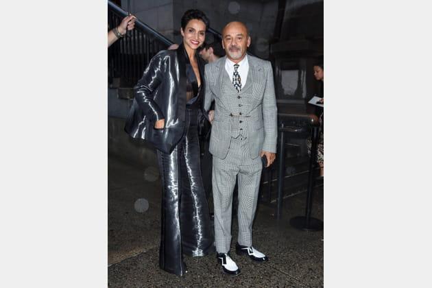 Christian Louboutin et Farida Khelfaau défilé Marc Jacobs
