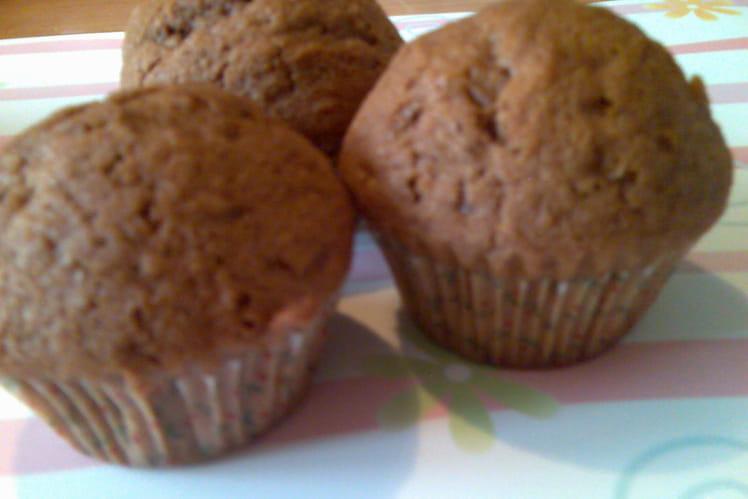 Muffins au chocolat, arôme orange