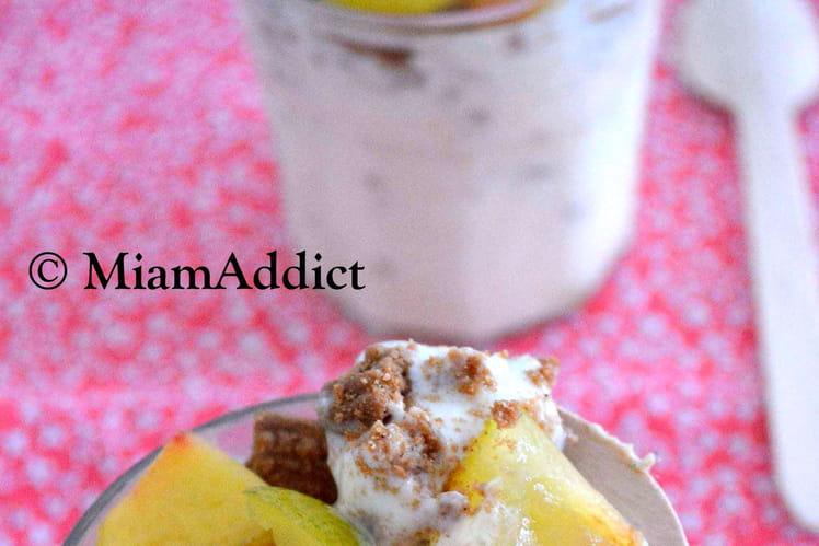 Frozen Yogurt Nectarine Prunes & Spéculoos