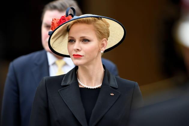Charlène de Monaco lors de la messe solennelle