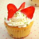cupcakes au citron vert et a la fraise