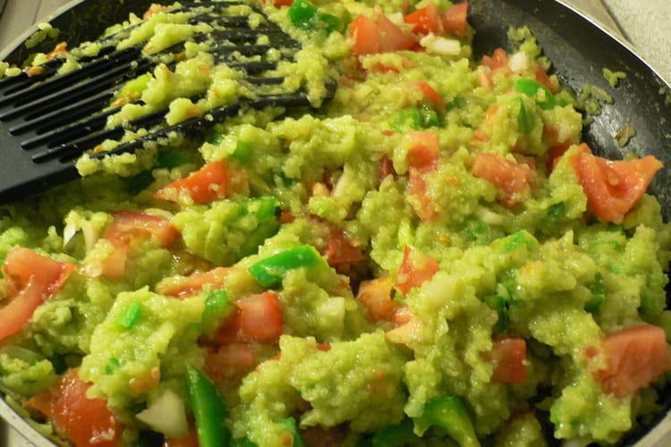 Poêlée au riz vert