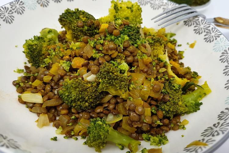 Salade de lentilles et brocolis
