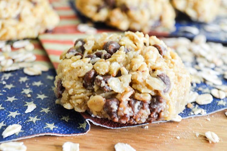 Biscuits aux flocons d'avoine et chocolat