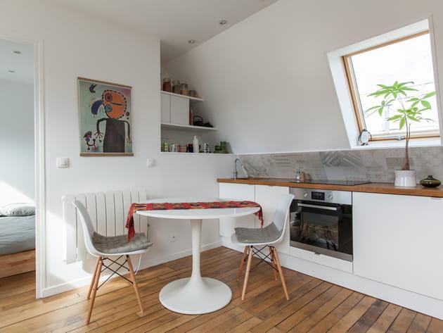 Une cuisine ouverte gain de place