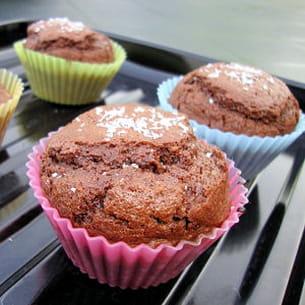 muffins fondants au chocolat et noix de coco