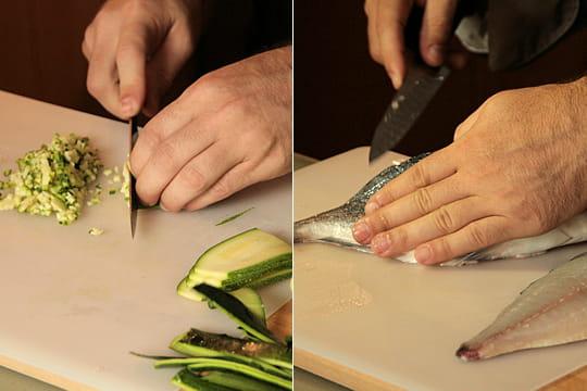 Comment préparer un caviar de courgettes et lever des filets de poisson ?