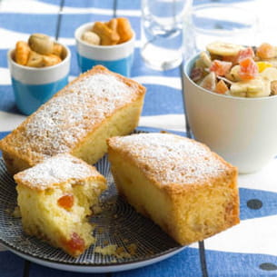 petits cakes fruits secs et citron