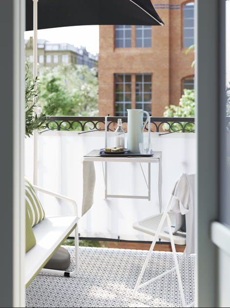 Table murale et chaise pliante TORPARÖ IKEA