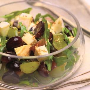 salade de vendanges au raisin