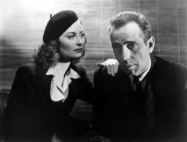 """Au côté d'Humphrey Bogart dans """"Passage pour Marseille"""", 1944"""