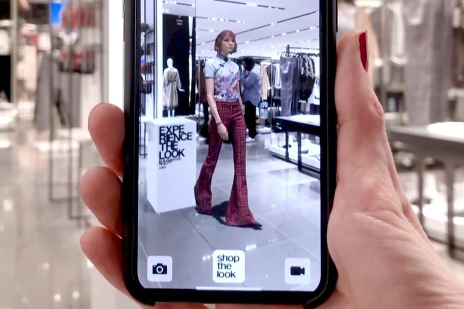 Zara crée sa réalité augmentée pour une nouvelle expérience shoopping
