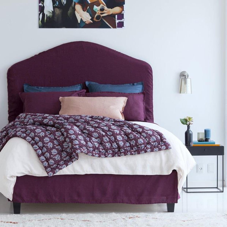 parure de lit en lin bordeaux par am pm. Black Bedroom Furniture Sets. Home Design Ideas