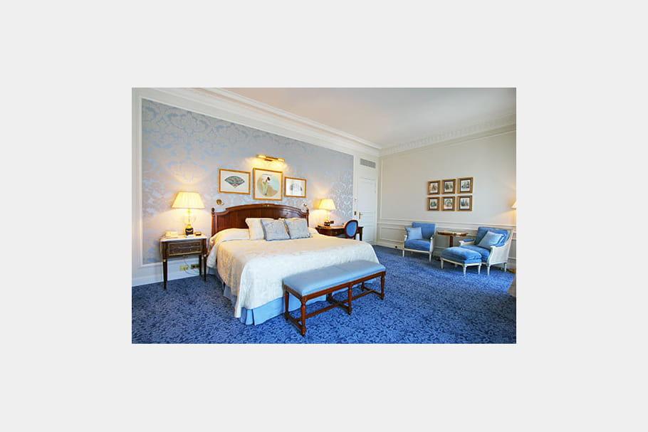 Chambre bleu roi