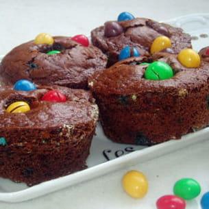 gâteaux au chocolat aux m&m's