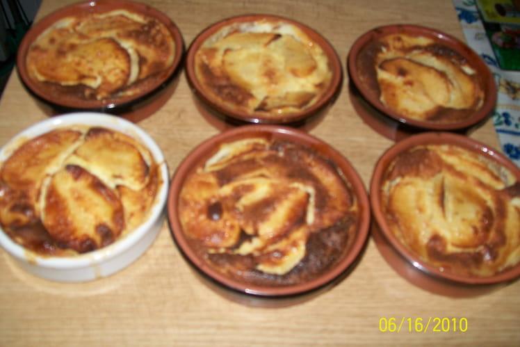 Clafoutis aux pommes individuels