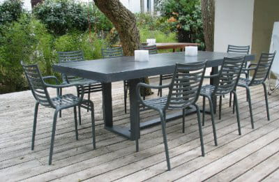 Du mobilier de jardin béton-métal