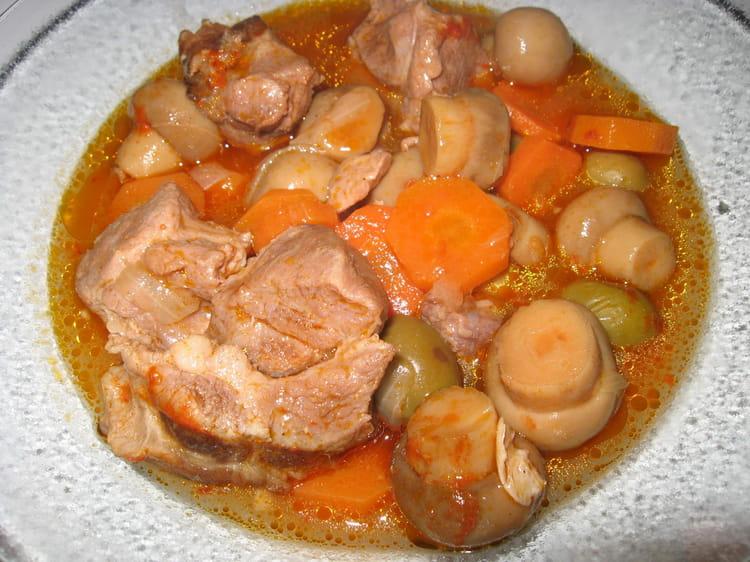 Recette de saut de porc en rago t la recette facile - Cuisiner rouelle de porc en cocotte minute ...