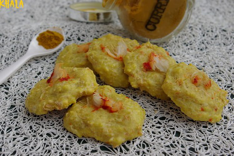 Cookies crabe curry