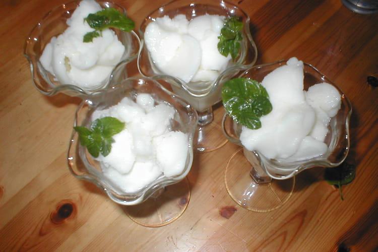 Glace au yaourt et au citron