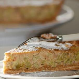 tarte à la rhubarbe et spéculoos