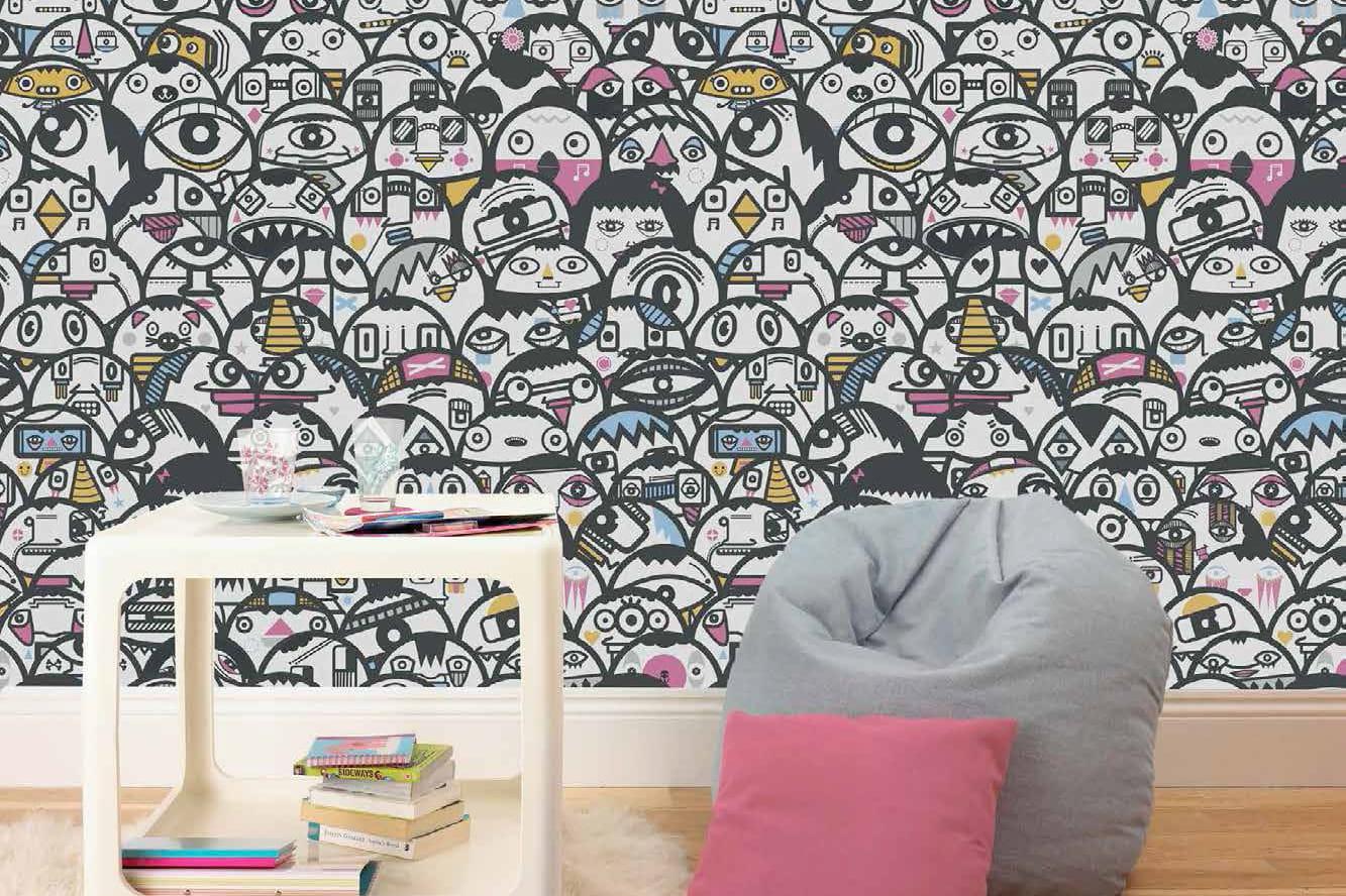 papier peint alien crowd de graham brown. Black Bedroom Furniture Sets. Home Design Ideas