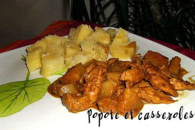 Escalopes de dinde à l'ananas et lait de coco