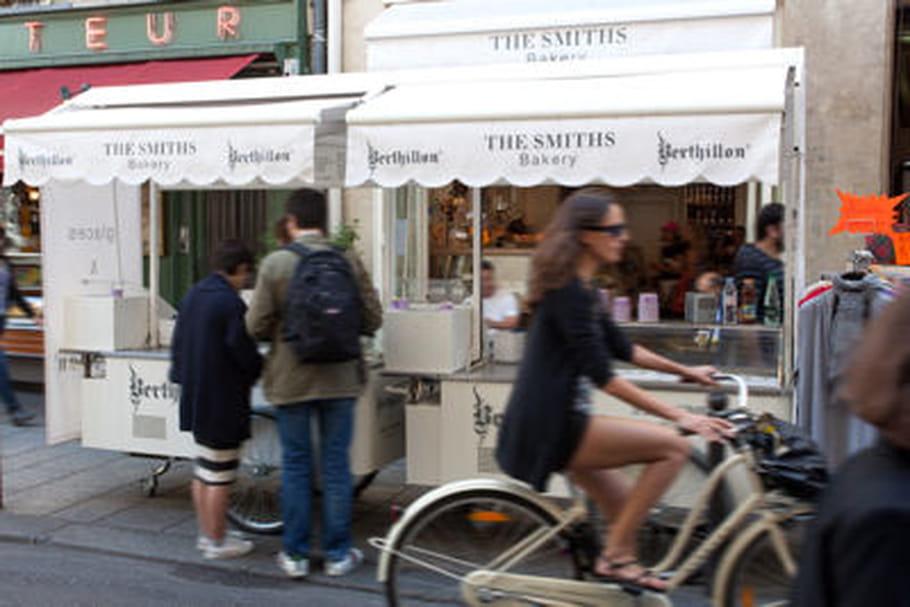 Le chariot Berthillon se gare à Paris