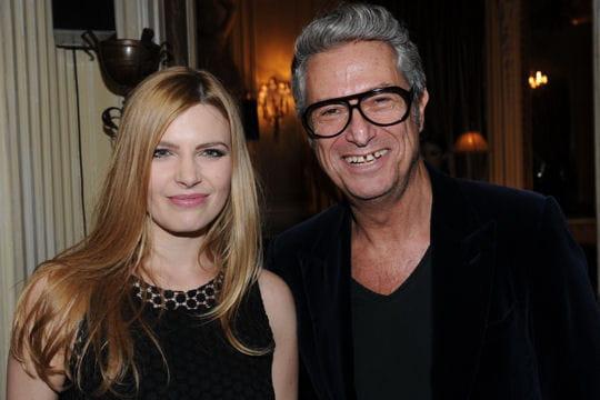 Elodie Frégé et Serge Cajfinger à la présentation de la collection Black Carpet de Paule Ka