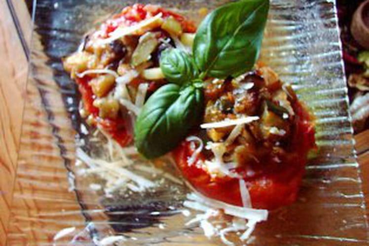 Recette de tomates farcies la ratatouille la recette - Cuisiner la ratatouille ...