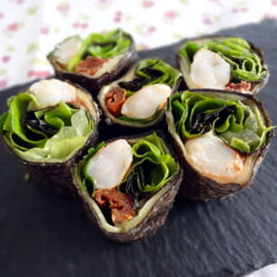 maki de crevettes aux légumes