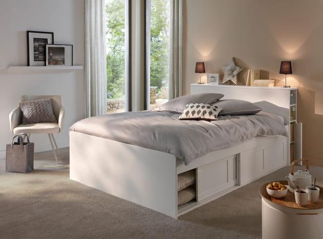 lit belem de conforama. Black Bedroom Furniture Sets. Home Design Ideas