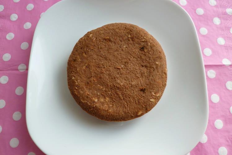 Gâteau cru végan sans gluten châtaigne cacao aux protéines de riz et psyllium