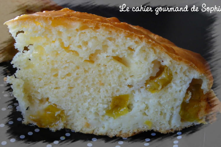 Gâteau moelleux mirabelles-biscuit