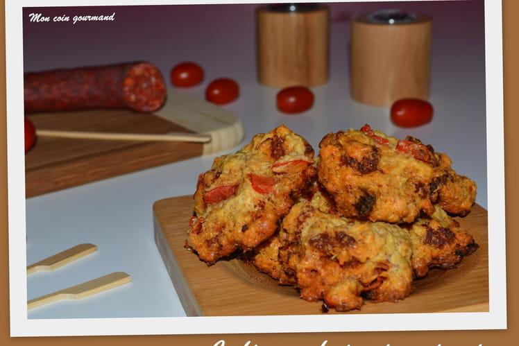 Cookies au chorizo et aux tomates