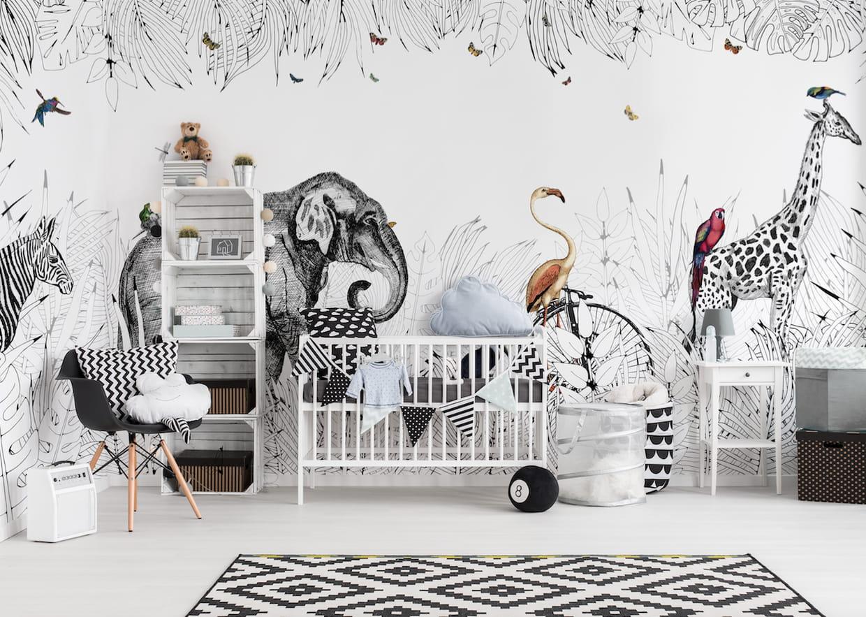 papier peint panoramique metrozoo par au fil des couleurs. Black Bedroom Furniture Sets. Home Design Ideas