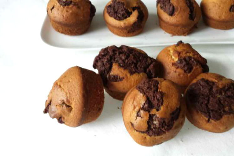 Muffins marbrés vanille chocolat