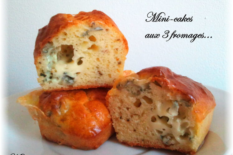 Mini-cakes aux 3 fromages