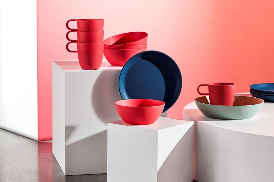 Vaisselle colorée