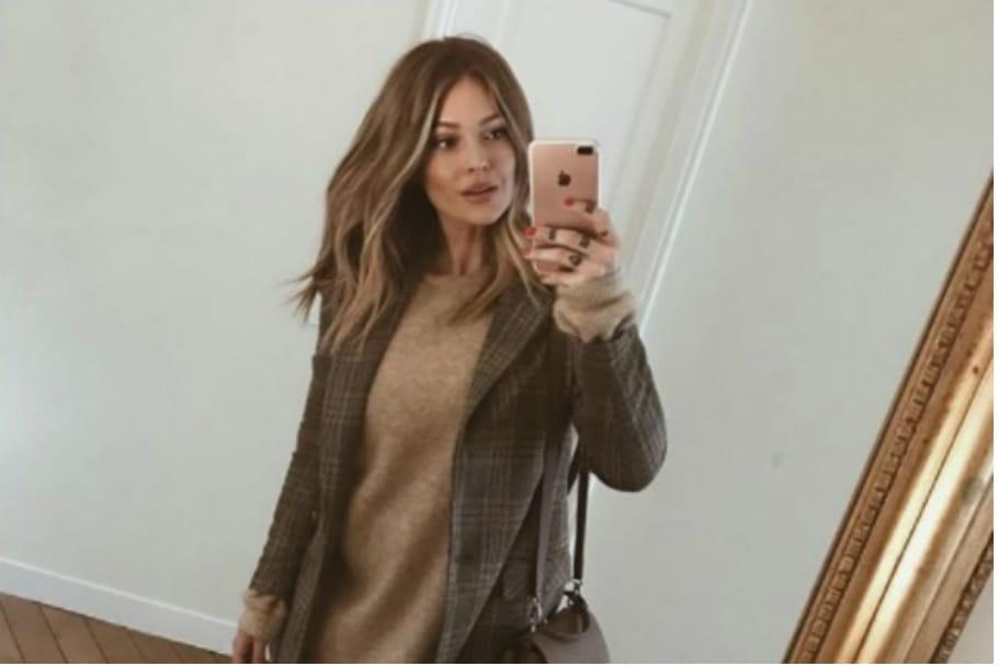 Le look blogueuse de la semaine: Caroline Receveur se tient à carreaux